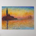 Claude Monet - San Giorgio Maggiore no crepúsculo Poster