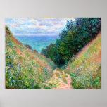 Claude Monet: Trajeto no La Cavee Pourville Poster