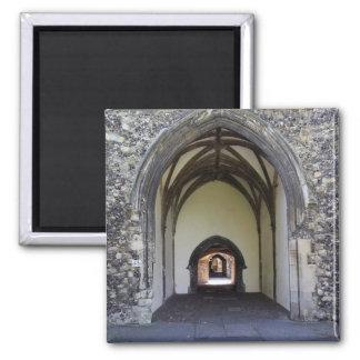 Claustro da catedral de Canterbury Ímã Quadrado