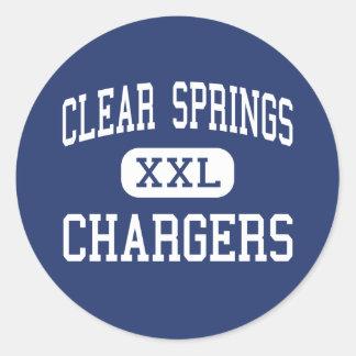 Clear Springs - carregadores - alto - cidade da li Adesivo Em Formato Redondo