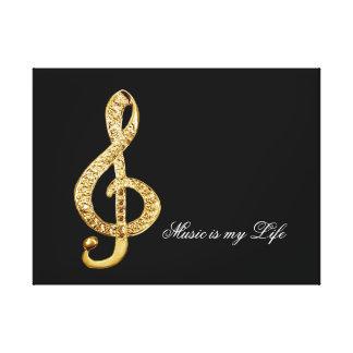 clef de g do símbolo de música impressão em tela canvas