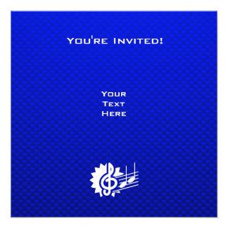 Clef de triplo azul Notas da música Convites Personalizados