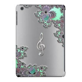 Clef metálico de prata da música no caso do iPad Capa Para iPad Mini Retina
