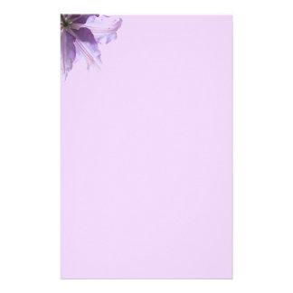 Clematis roxo bonito papelaria