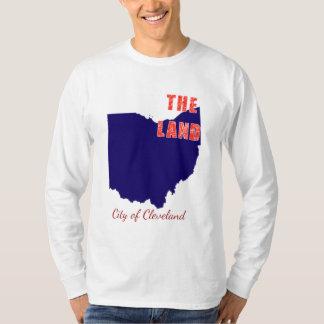 "Cleveland ""a camisa longa da luva de Ohio da"