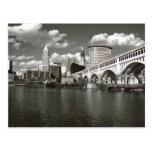 Cleveland Ohio preto e branco Cartões Postais