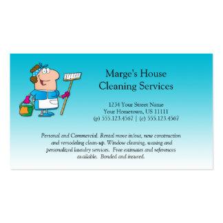 Cliente da limpeza da casa da empregada doméstica  cartão de visita