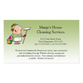 Cliente verde Loya da limpeza da casa da empregada Modelos Cartões De Visita
