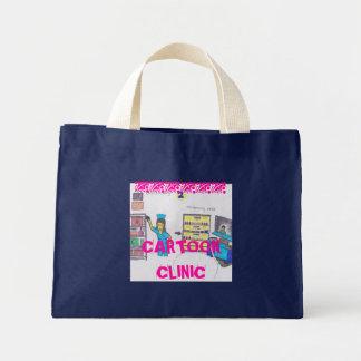 clínica dos desenhos animados sacola tote mini