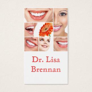 Clínica privada dental/do dentista odontologia cartão de visitas