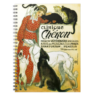 Clínica veterinária francesa Chéron do cão do gato Cadernos Espiral
