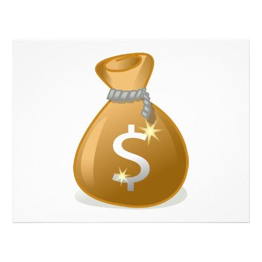 Clipart do saco do dinheiro panfleto personalizados