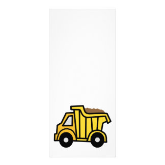 Clipart dos desenhos animados com um camião panfleto