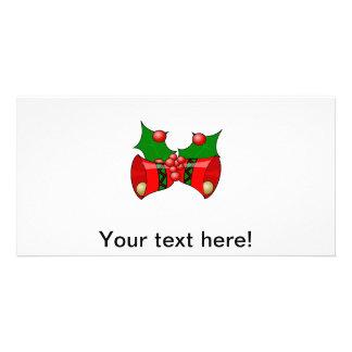 Clipart dos sinos de Natal Cartão Com Foto
