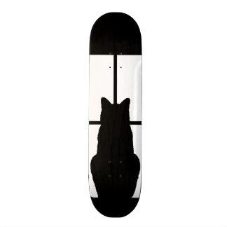 Clique do gato preto da janela para personalizar shape de skate 18,1cm