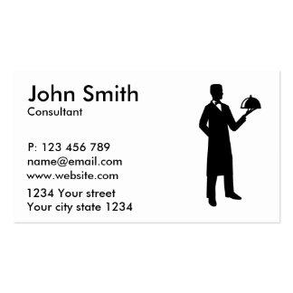 Cloche do garçom do servidor cartão de visita