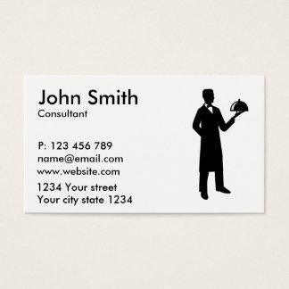 Cloche do garçom do servidor cartão de visitas