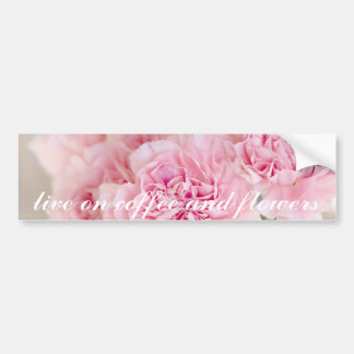 Close up cor-de-rosa das pétalas da flor da flor adesivo para carro