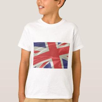 Close up de seda da bandeira de Union Jack Camiseta