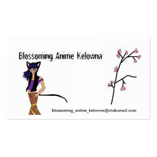 Clube de florescência de Kelowna do Anime Cartao De Visita