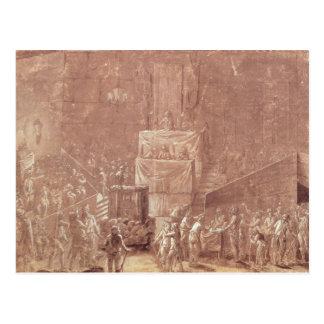 Clube de Jacobin durante a revolução Cartão Postal