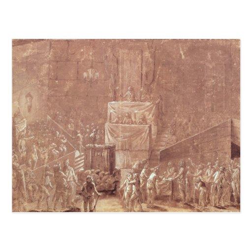 Clube de Jacobin durante a revolução Cartões Postais