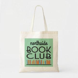 Clube de leitura com estilo conhecido feito sob bolsa tote