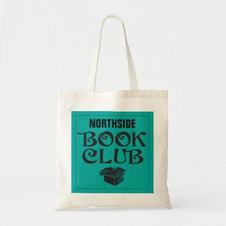 Clube de leitura com nome feito sob encomenda na bolsa tote