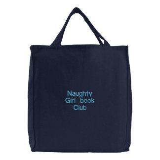 Clube de leitura impertinente da menina bolsa de lona