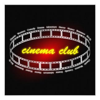 Clube do cinema convite personalizado