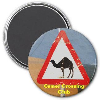 Clube do cruzamento do camelo imã de refrigerador