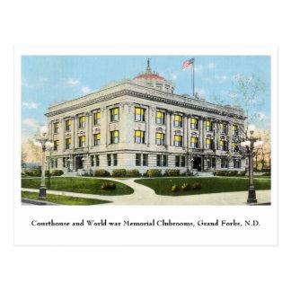 Clube do memorial de guerra mundial do tribunal, cartão postal