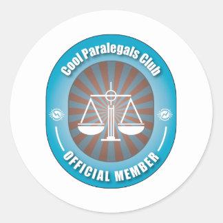 Clube legal dos Paralegals Adesivos Redondos