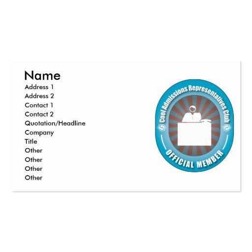 Clube legal dos representantes das admissões modelo cartões de visitas