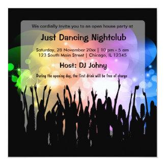 Clube nocturno da grande inauguração convites