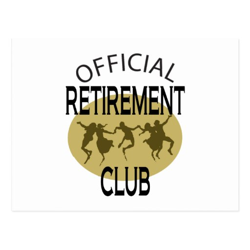 Clube oficial da aposentadoria cartao postal