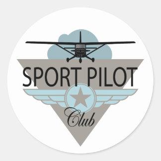 Clube piloto do esporte adesivos redondos