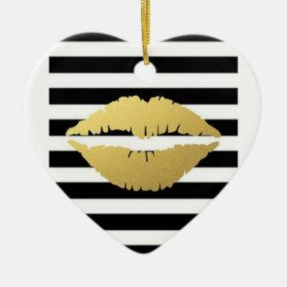 Cm3 beijam-me ornamento do coração