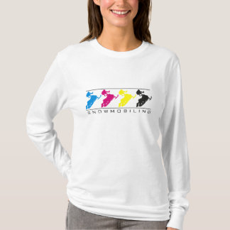 CMYK - Silhueta do Snowmobile - camisa de L/S