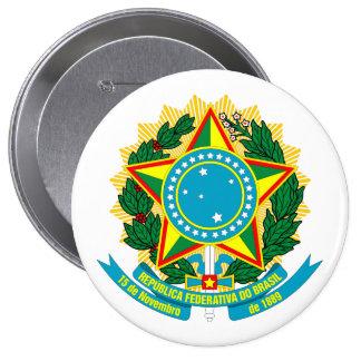 COA de Brasil Bóton Redondo 10.16cm