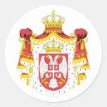 COA de Serbia Adesivos Em Formato Redondos