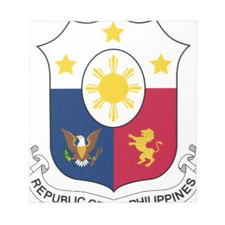 Coat_of_arms_of_the_Philippines_ (1946-1978) Bloco De Notas