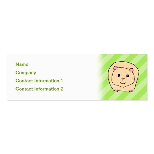 Cobaia, animal dos desenhos animados modelo cartões de visita