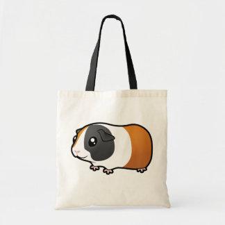 Cobaia dos desenhos animados (cabelo liso) bolsa tote