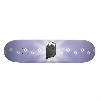 Cobaia dos desenhos animados (cabelo longo) shape de skate 18,7cm