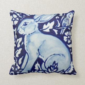 Cobalto azul e branco da decoração do travesseiro almofada