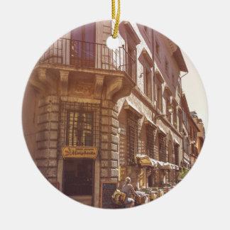 Cobblestone italiano da bicicleta do getter do ornamento de cerâmica redondo