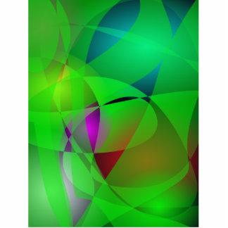 Coberto com o verde escultura de fotos