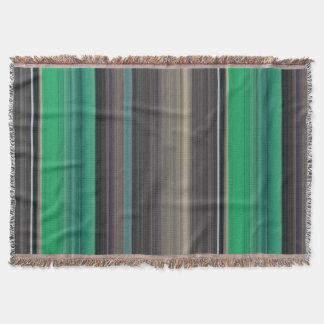 Cobertor #1 abstrato: Verde e cinza
