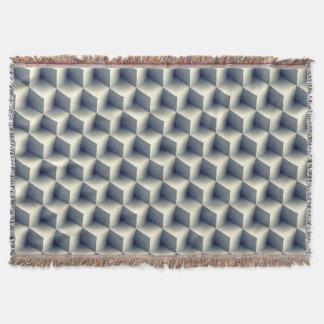 Cobertor 3D cuba o teste padrão